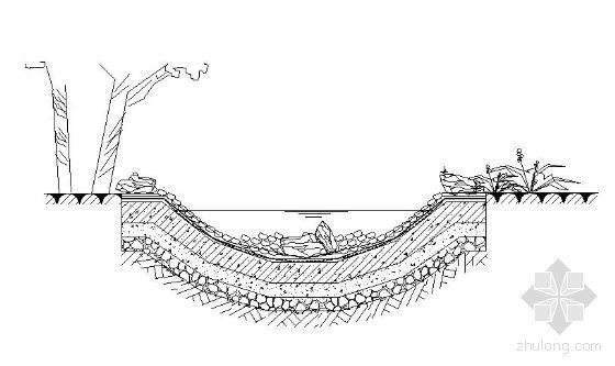 人工湖及溪流做法