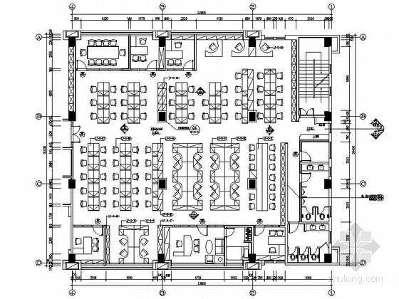 [广东]简约舒适办公区室内设计CAD施工图