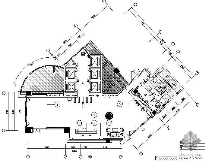 浦发银行室内精装饰工程施工图