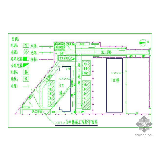 保定某高层住宅项目施工现场平面布置图