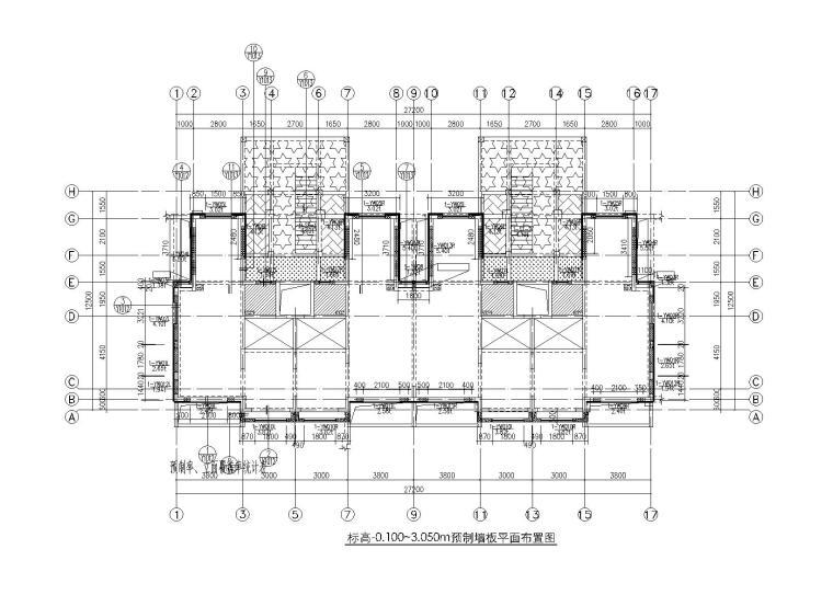 5层双拼别墅PC深化设计施工图(装配整体式剪力墙,2017)