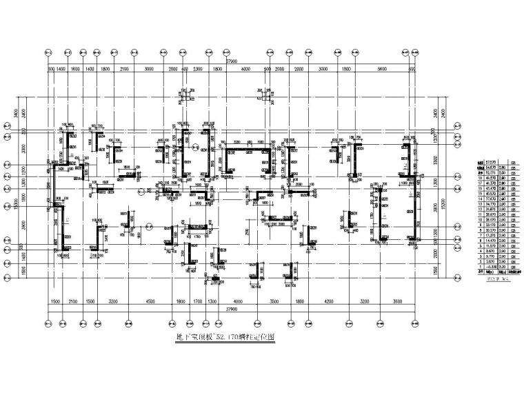 52米高18层剪力墙高层住宅楼结构施工图