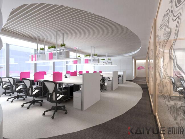 宝琳化妆品公司办公室装饰设计项目--效果图_2