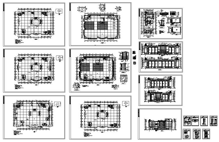 现代多层宾馆酒店建筑设计施工图CAD-现代多层商业建筑设计施工图