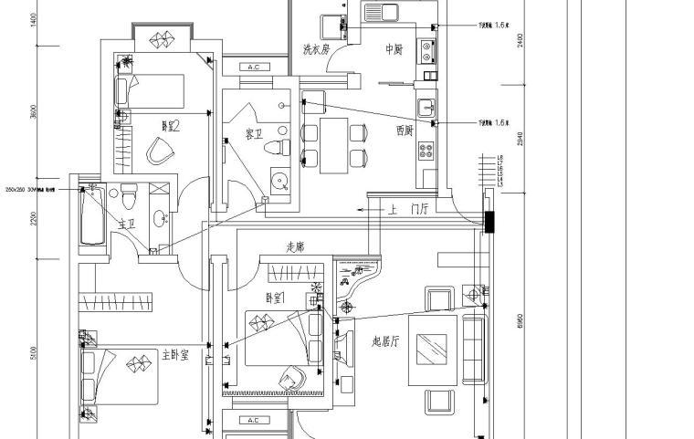 样板间装修电气施工图