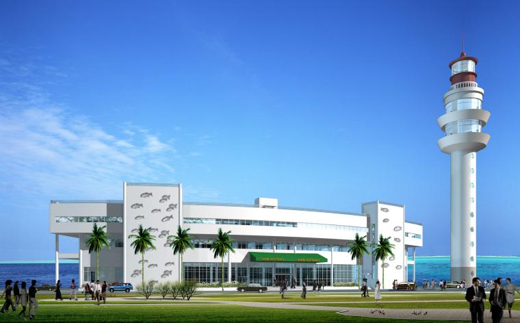 50套商业、酒店、办公楼建筑方案施工效果图纸_5