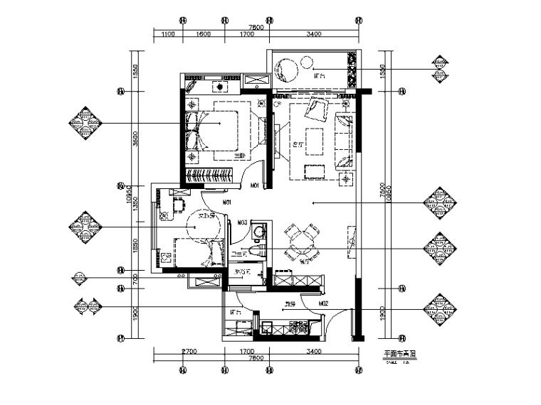 [广东]现代简约精装样板房CAD施工图(含实景图)