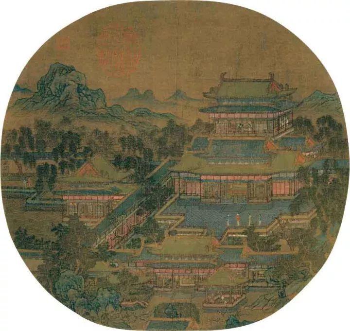 绘画艺术中的中国庭院