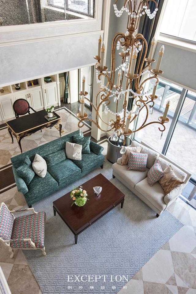 燕尔臻邸--深圳鲸山觐海复式软装设计-  「设计解读.客厅」   第6张图片