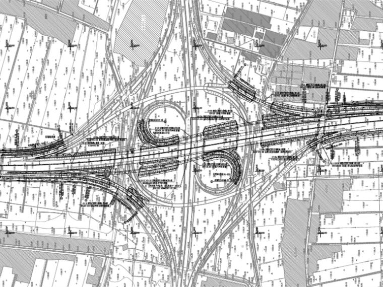 高速公路互通式立交改扩建工程路线交叉设计图313张