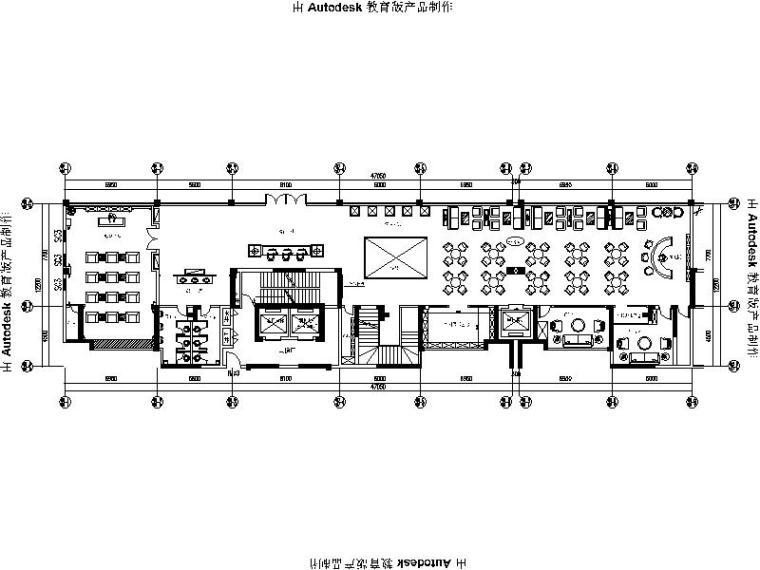 [广州]精致简约欧式售楼中心设计施工图(含效果图)