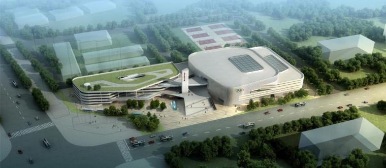 [江西]五层白色体块县级体育馆建筑设计方案文本