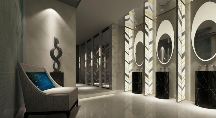 现代风格餐厅设计CAD施工(含效果图)效果图