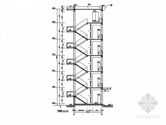 [福建]五层框架结构玻璃幕墙高等院校教学楼建筑施工图-五层框架结构玻璃幕墙高等院校教学楼建筑详图