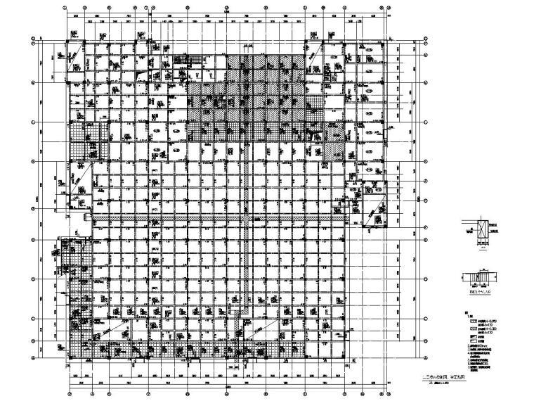 [浙江]地上三层框架结构学校食堂结构施工图