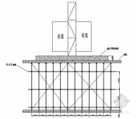 施工升降机基础设在建筑物顶板上施工工法