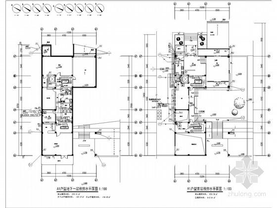 别墅给水排水及雨水施工图设计图片
