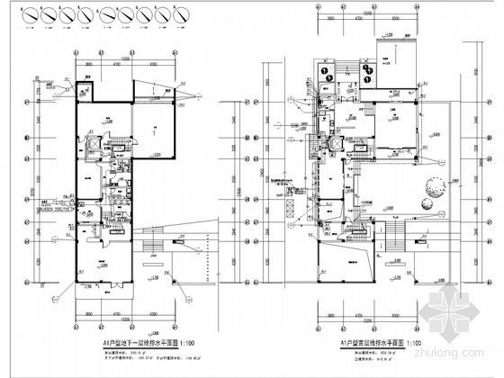 [福建]别墅给水排水及雨水施工图设计