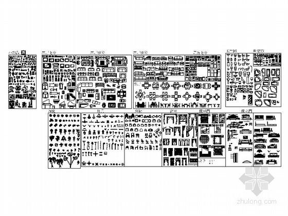 常用现代家居CAD图块下载资料图纸总缩略图