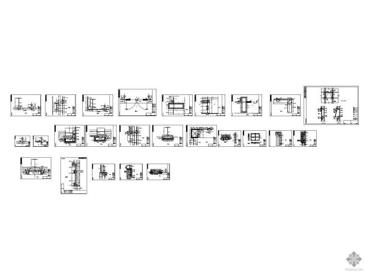 点式玻璃幕墙节点施工图