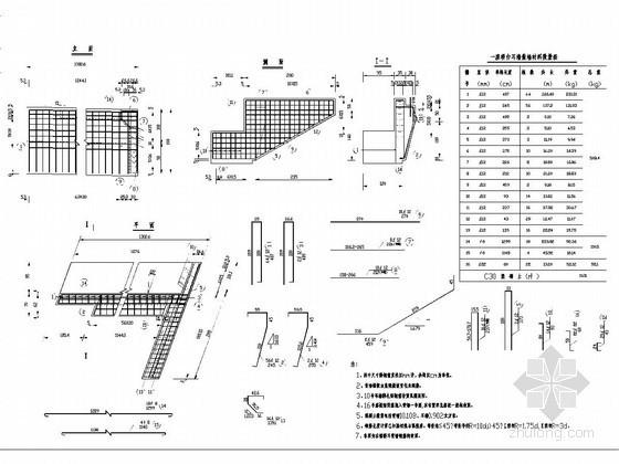 [黑龙江]桥梁耳背墙钢筋构造图