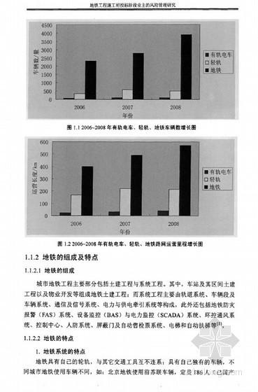 [硕士]地铁工程施工招投标阶段业主的风险管理研究[2010]