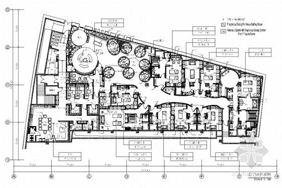 [广州]现代奢华高雅别致五星级商务酒店SPA水疗会馆施工图(含实景图和效果图)