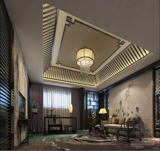 中式会所套房室内装修效果图