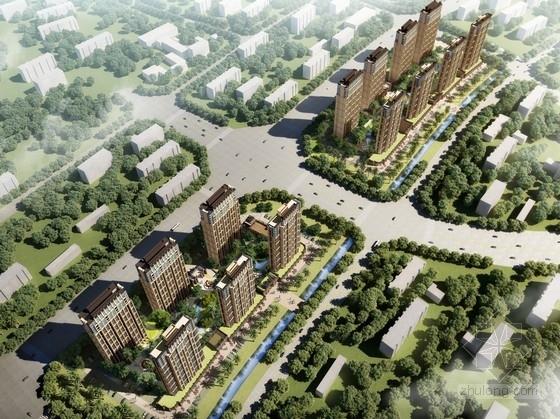 [福建]现代简约高层住宅区规划设计方案文本(含CAD PSD)