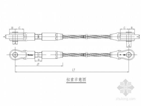 张弦梁节点设计图
