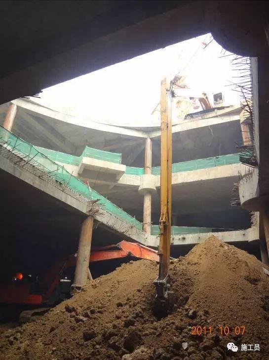 【图解案例】超高层建筑22米深基坑逆作法施工现场,看基础如何倒_24