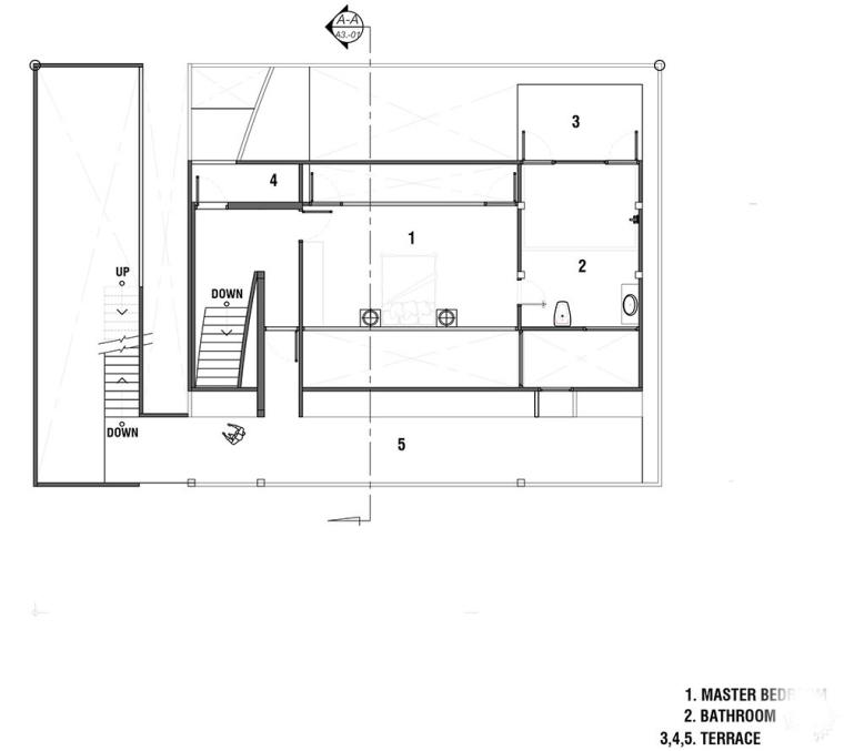 泰国设有阶梯式屋顶露台Fuzzy住宅-12