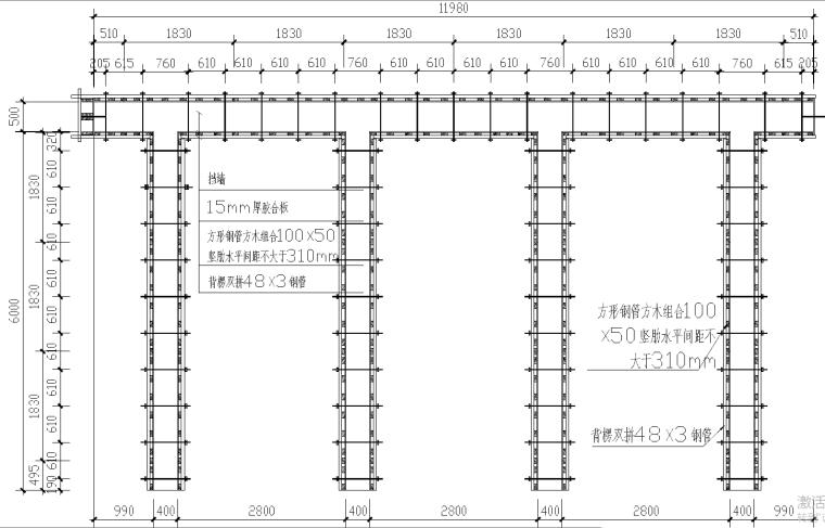 新建堤坝扶壁式挡墙结构挡土墙专项施工方案