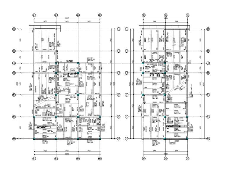 知名地产框架结构商业服务楼全套施工图(建筑结构水暖电)