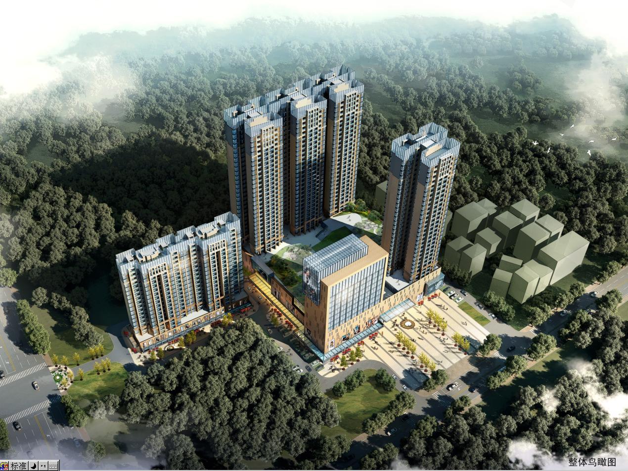 [方案][广东]新中式风格仿金属屋顶高层住宅楼建筑设计方案文本图片
