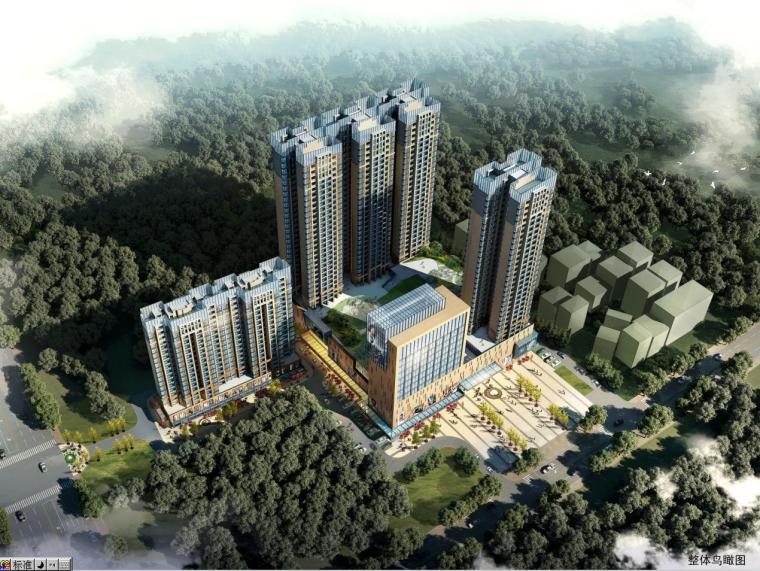 [廣東]新中式風格仿金屬屋頂高層住宅樓建筑設計方案文本