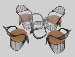 现代简洁洽谈桌椅3D模型下载