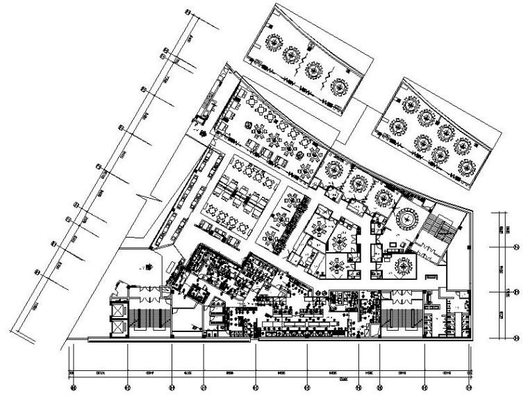 [成都]簡約歐式典雅浪漫西餐廳室內設計施工圖(含效果圖)