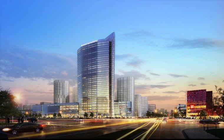 流畅恢弘的室内空间,北京三里屯通盈中心洲际酒店设计