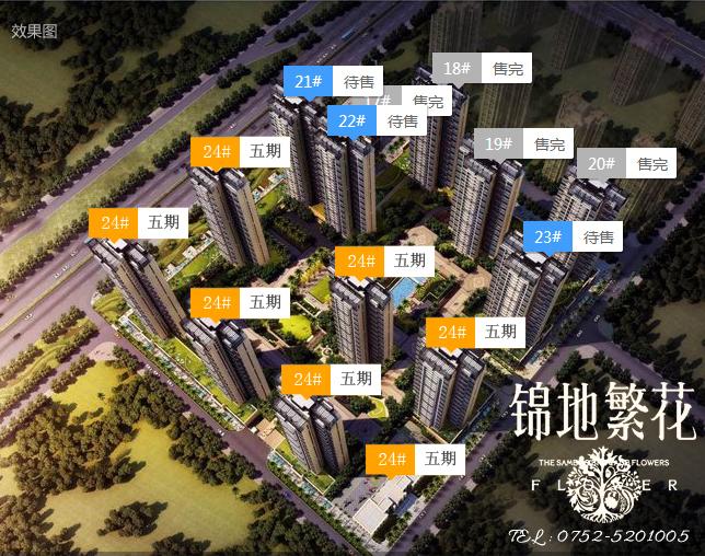 惠州大亚湾锦地繁花4期 户型图 售楼部