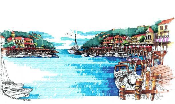 过账天鹿湖地区发展策划与城市设计项目-06天鹿未来岛效果图