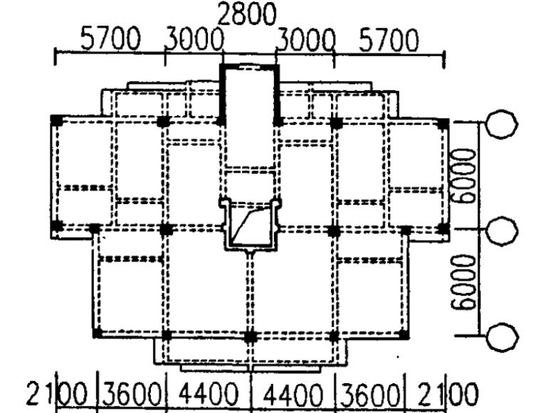 高层建筑结构的受扭敏感区和质心区
