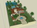 现代私人度假会所建筑SU模型