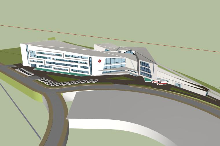 现代大型综合医院建筑SU模型