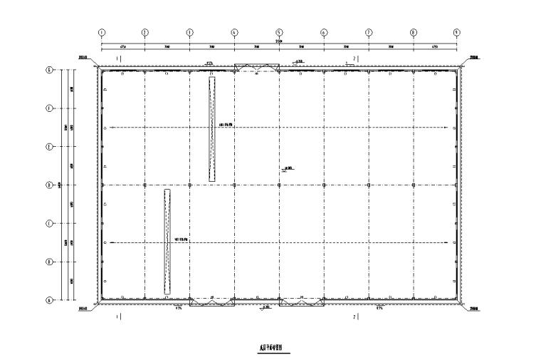 [福建]单层结构单山双跨门式钢架厂房结构施工图