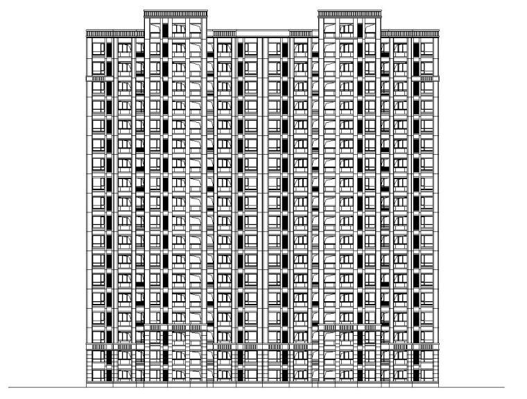 [山东]连云港蔚蓝海岸欧陆风格居住区建筑全套施工图(CAD)