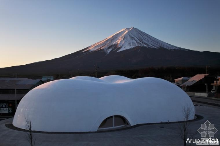 富士山下的云