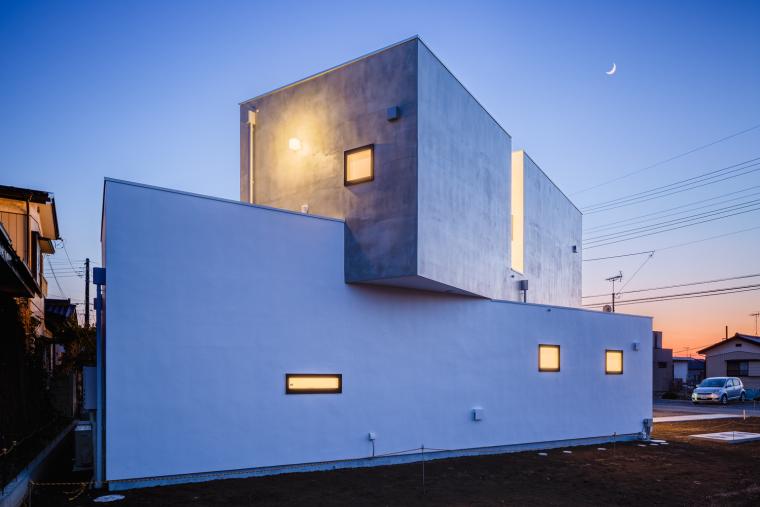 日本侧立块的住宅