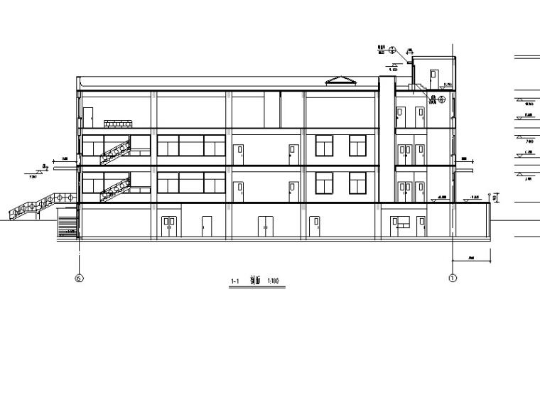 某农大东校区食堂建筑设计施工图CAD