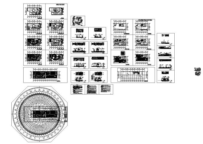 屋顶花园别墅庭院景观设计CAD施工图_9